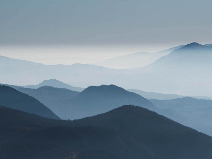 Mountain layers of the abruzzo region, Italy.